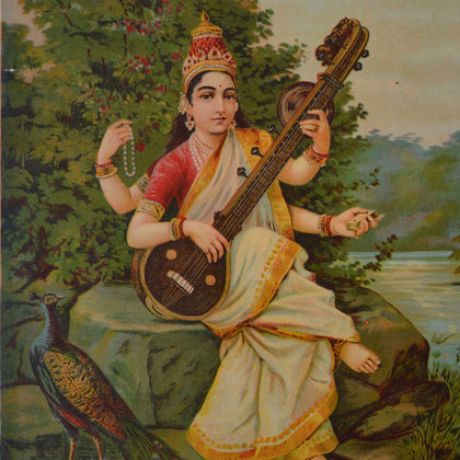 Saraswati - IV,[product_collection],Archer Art Gallery,Raja Ravi Varma - Artisera