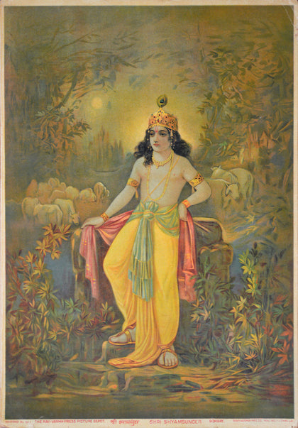 Shree Shyamsundar,[product_collection],Archer Art Gallery,Raja Ravi Varma - Artisera