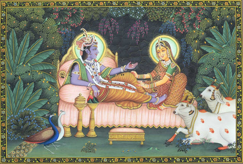 Radha Krishna Van Vihar,[product_collection],Artisera Pichwai, - Artisera