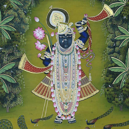 Shrinathji Swaroop Van Vihar - I,[product_collection],Artisera Pichwai, - Artisera
