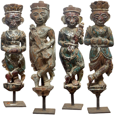 Musicians with Instruments (Set of 4),[product_collection],Crafters, - Artisera