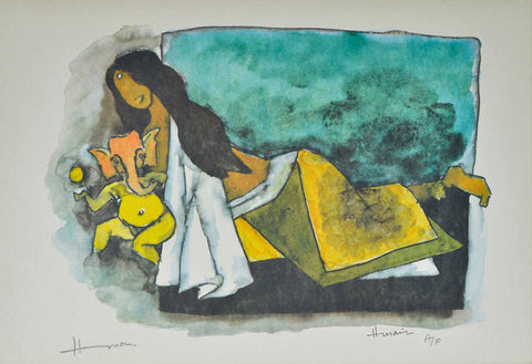 Ganesh - IV,[product_collection],Archer Art Gallery,M.F. Husain - Artisera