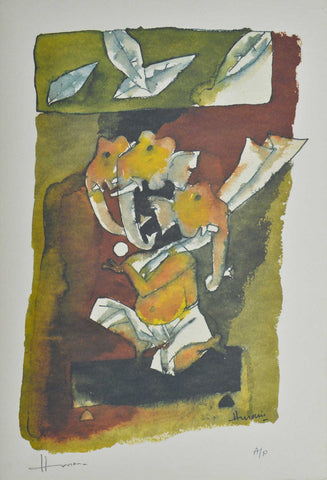 Ganesh - V,[product_collection],Archer Art Gallery,M.F. Husain - Artisera