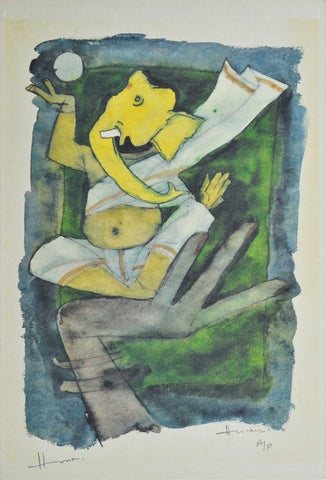 Ganesh - VI,[product_collection],Archer Art Gallery,M.F. Husain - Artisera