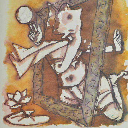 Ganesh - VII,[product_collection],Archer Art Gallery,M.F. Husain - Artisera