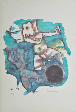 Ganesh - VIII,[product_collection],Archer Art Gallery,M.F. Husain - Artisera