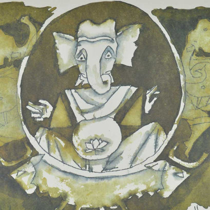 Ganesh - IX,[product_collection],Archer Art Gallery,M.F. Husain - Artisera
