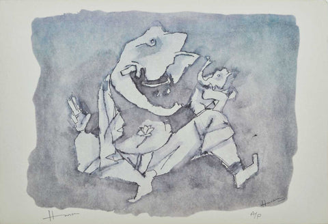 Ganesh - X,[product_collection],Archer Art Gallery,M.F. Husain - Artisera