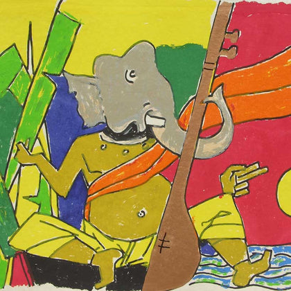 Ganesh - I,[product_collection],Archer Art Gallery,M.F. Husain - Artisera