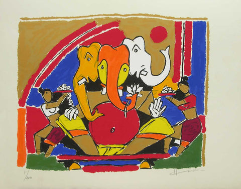 Ganesh - II,[product_collection],Archer Art Gallery,M.F. Husain - Artisera