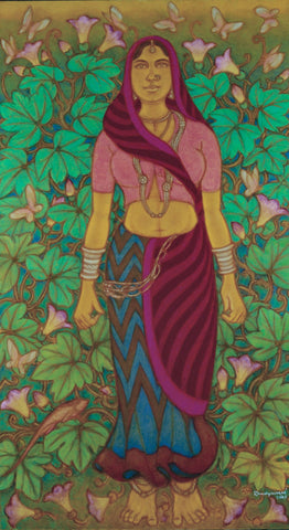 Yakshi of Pai Village,Vadehra Art Gallery Bookstore,A. Ramachandran - Artisera