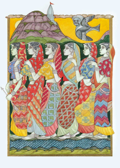 Prospective Brides to Baneshwar Mela,[product_collection],Vadehra Art Gallery Bookstore,A. Ramachandran - Artisera