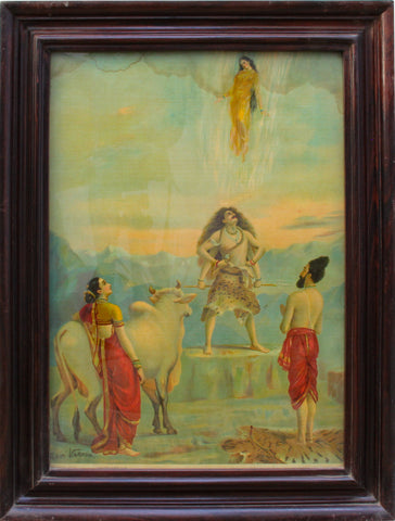 Bhagiratha, Bringing Down Ganga,[product_collection],Balaji's Antiques and Collectibles,Raja Ravi Varma - Artisera