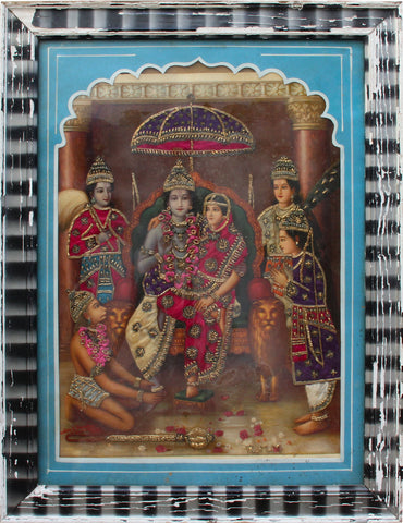 Ram Panchayatan,[product_collection],Balaji's Antiques and Collectibles,Vasudeo Pandya - Artisera