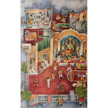 Durga Pooja,[product_collection],Kynkyny Art,Arpita Basu - Artisera
