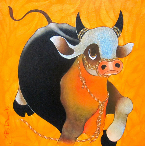 Bull,[product_collection],Genesis Art Gallery,H.R Das - Artisera