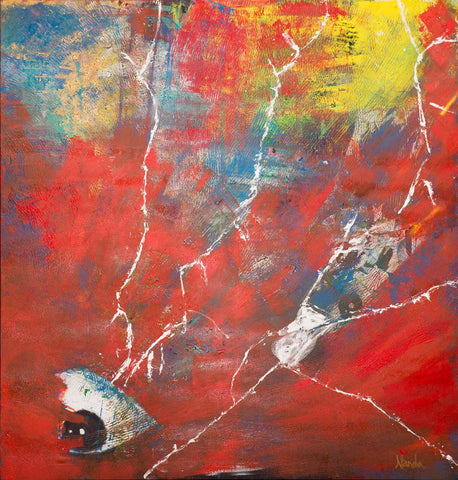 Prism Eye IV - Communication through a single glance,[product_collection],Artisera Paintings,Nanda Khiara - Artisera