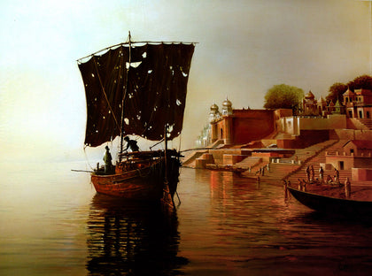 Banaras Ghat,[product_collection],Kynkyny Art,Amit Bhar - Artisera