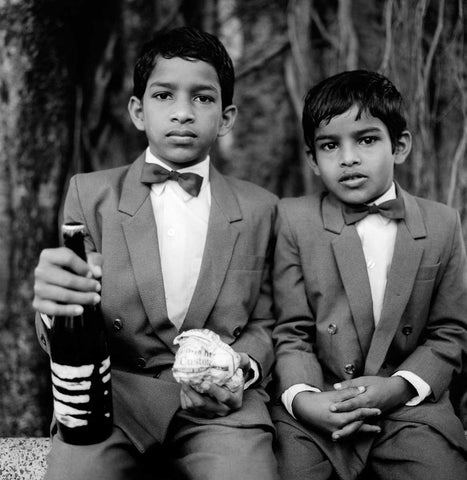 Brothers at a Local Feast in Loutolim - Goa, 1994,Tasveer,Karan Kapoor - Artisera