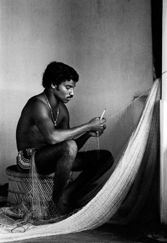 Joseph Fixing a Net On Our Verandah - Goa, 1981,[product_collection],Tasveer,Karan Kapoor - Artisera
