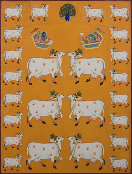 Group of Cows - II,[product_collection],Artisera Pichwai, - Artisera