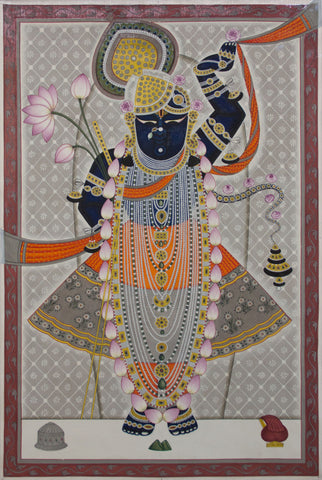 Shrinathji - II,[product_collection],Artisera Pichwai, - Artisera