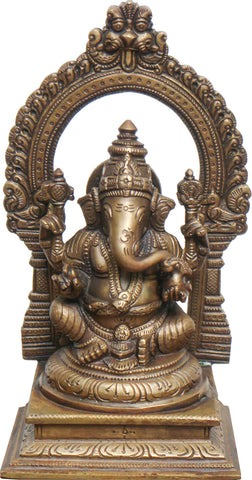 Ganesha With Prabhawal,[product_collection],La Boutique, - Artisera