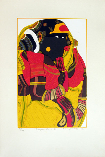 Telangana Woman - I,[product_collection],Archer Art Gallery,Thota Vaikuntam - Artisera