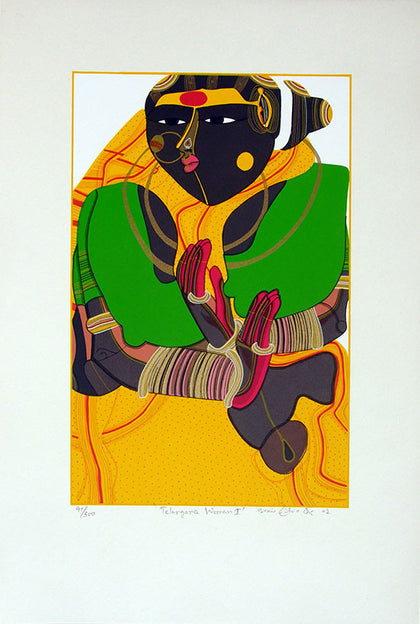 Telangana Woman - II,[product_collection],Archer Art Gallery,Thota Vaikuntam - Artisera