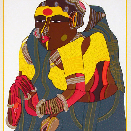 Telangana Woman - IV,[product_collection],Archer Art Gallery,Thota Vaikuntam - Artisera
