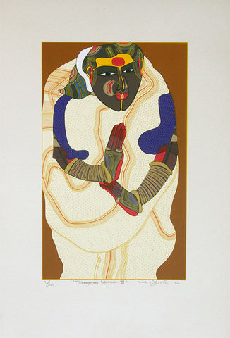 Telangana Woman - III,[product_collection],Archer Art Gallery,Thota Vaikuntam - Artisera