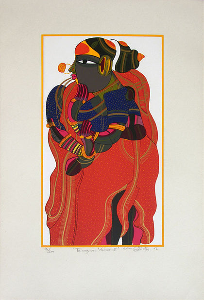 Telangana Woman - V,[product_collection],Archer Art Gallery,Thota Vaikuntam - Artisera
