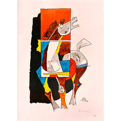 Horse - II,[product_collection],Vadehra Art Gallery Bookstore,M.F. Husain - Artisera