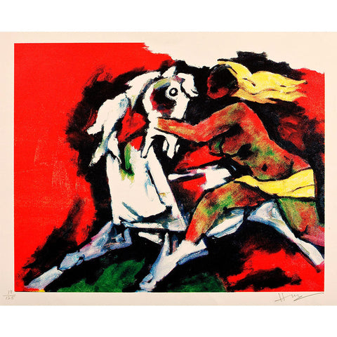 Horse with Lady,[product_collection],Vadehra Art Gallery Bookstore,M.F. Husain - Artisera