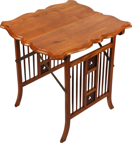 Campaign Folding Side Table,[product_collection],Balaji's Antiques and Collectibles, - Artisera