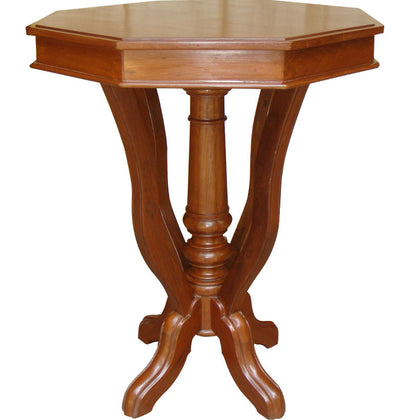 Colonial Style Octagonal Teak Wood Table,[product_collection],La Boutique, - Artisera