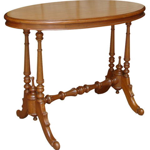 Oval Teak Wood Table,[product_collection],La Boutique, - Artisera