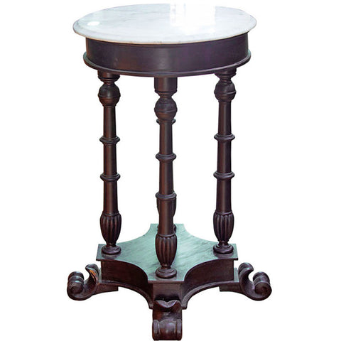 Round Table with Marble Top,Crafters, - Artisera