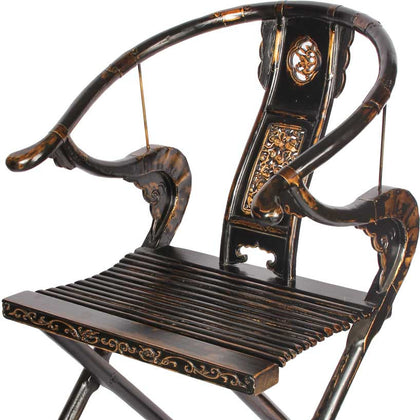 Oriental Black Chair,[product_collection],The Great Eastern Home, - Artisera