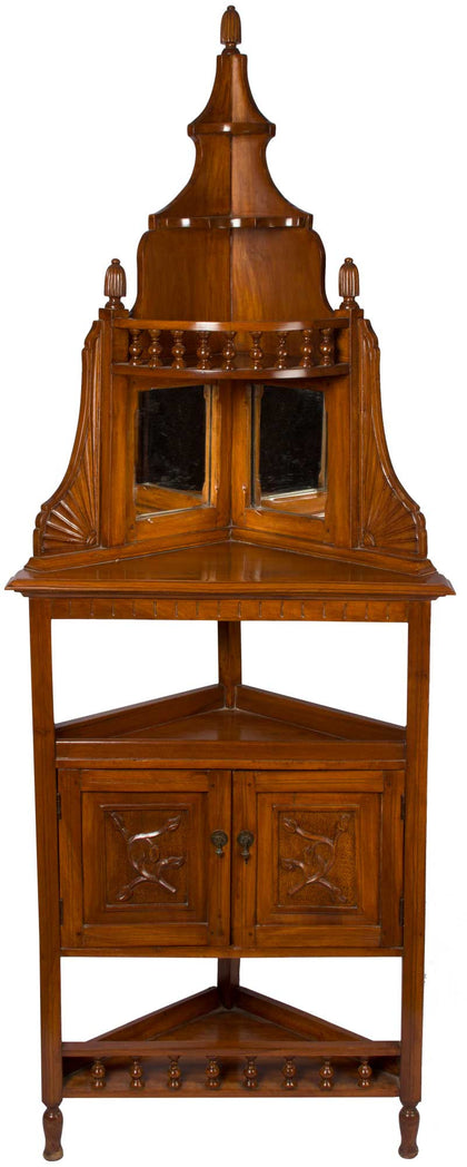 Corner Cabinet with Mirror,[product_collection],The Great Eastern Home, - Artisera