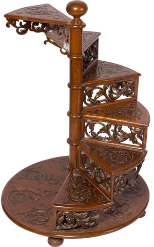 Step Table with Intricate Carving,The Great Eastern Home, - Artisera