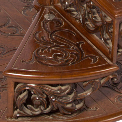 Step Table with Intricate Carving,[product_collection],The Great Eastern Home, - Artisera