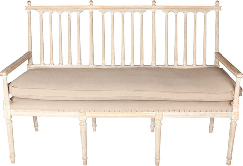 Wooden 3-Seater Bench (White),[product_collection],The Great Eastern Home, - Artisera
