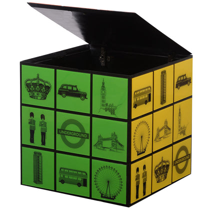 Rubik's Cube Side Table,[product_collection],Square Barrel, - Artisera