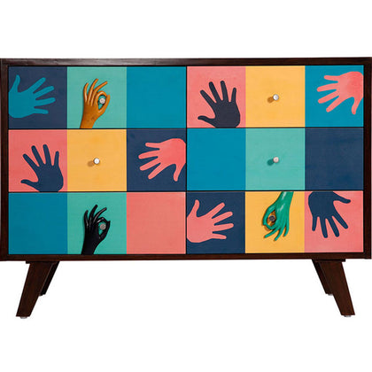 Hands Cabinet,[product_collection],Square Barrel, - Artisera