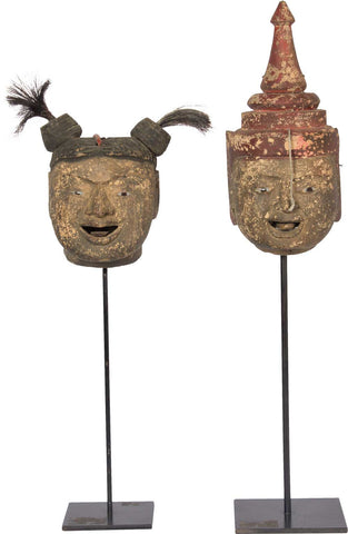 Wooden Puppet Heads,[product_collection],The Great Eastern Home, - Artisera