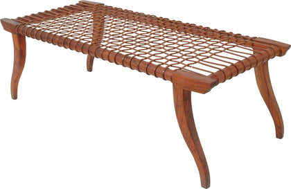 Leather Strap Bench (L),[product_collection],Anantaya, - Artisera