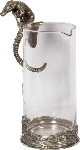 Pitcher with Stylized Crocodile Handle,[product_collection],The Great Eastern Home, - Artisera