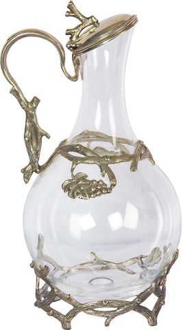 Wine Decanter with Plant Motif,The Great Eastern Home, - Artisera