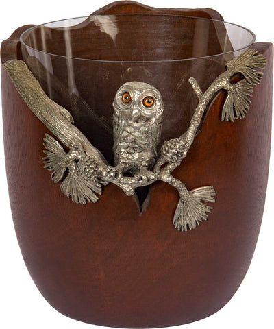 Ice Bucket With Owl Motif,The Great Eastern Home, - Artisera
